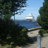Cruise Ship docked in Sydney, Nova Scotia