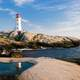 Lighthouse and Coastal Landscape in Nova Scotia