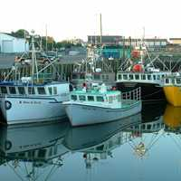 Lobster Fishing boats in Yarmouth, Nova Scotia
