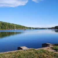 Mahone Bay landscape in Nova Scotia, Canada