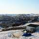 View of Iqaluit from Joamie Hill in Iqaluit, Nanuvut, Canada