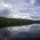 Clouds, lake, water, and trees at Algonquin Provincial Park, Ontario