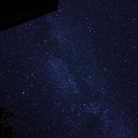Galaxy and Stars above the Cabin and Trees at Algonquin Provincial Park, Ontario