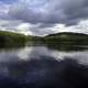Great Skies and landscape with water reflections at Algonquin Provincial Park, Ontario