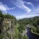 Cliffs and River under the Blue Sky at Eagle Canyon, Ontario