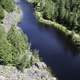 Closeup view of the canyon river at Eagle Canyon, Ontario