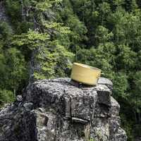 Cooking Pot on a cliff at Eagle Canyon, Ontario