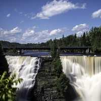 Front View of Majestic Kakabeka Falls, Ontario, Canada