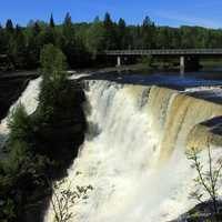 Falls from the other side at Kakabeka Falls, Ontario, Canada