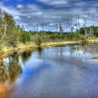 Backwaters of Lake Nipigon at Lake Nipigon, Ontario, Canada