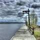 Boardwalk by the lake at Lake Nipigon, Ontario, Canada