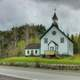 Church on the roadside at Lake Nipigon, Ontario, Canada