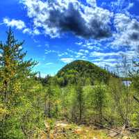 Clouds over the hill at Lake Nipigon, Ontario, Canada