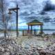 Gazebo and Landscape at Lake Nipigon, Ontario, Canada