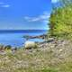 Lakeshore landscape with trees at Lake Nipigon, Ontario, Canada