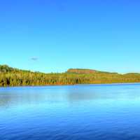 landscape on the Opposite Shore at Lake Nipigon, Ontario, Canada
