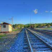 Railway the other way at Lake Nipigon, Ontario, Canada