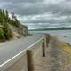 Roadway by the lake at Lake Nipigon, Ontario, Canada