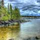 Scenic Lakeshore at Lake Nipigon, Ontario, Canada