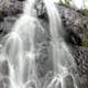 Tall Waterfall at Lake Nipigon, Ontario, Canada