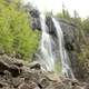Waterfall by the roadside at Lake Nipigon, Ontario, Canada