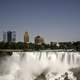 Buildings above American Falls at Niagara Falls, Ontario, Canada