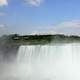 Front view of the falls in Niagara Falls, Ontario, Canada