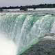 Really close-up of the falls in Niagara Falls, Ontario, Canada