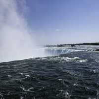 Looking across the landscape of Niagara Falls, Ontario, Canada