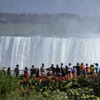 People looking at Niagara Falls in Ontario, Canada