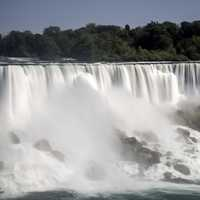 Time-Lapse waters of the American Falls from Niagara Falls, Ontario, Canada