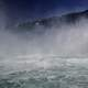 View of Niagara Falls from the bottom of the falls, Ontario, Canada