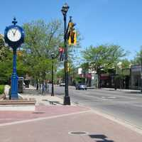 Brant Street, downtown in Burlington, Ontario, Canada
