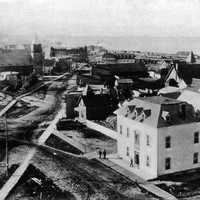 Downtown North Bay in 1905 in Ontario, Canada