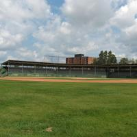 Hollinger Park grandstands in Timmins, Ontario, Canada