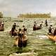 Ojibwe fishermen in the St. Marys Rapids, 1901 in Sault Ste. Marie in Ontario, Canada