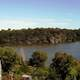 Panoramic view of Hamilton Harbour from T.B. McQuesten High Level Bridge in Ontario, Canada