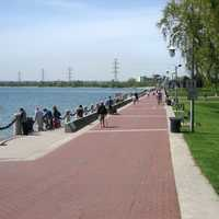 Spencer Smith Park on Burlington's waterfront in Ontario, Canada