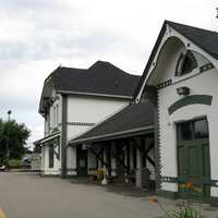 Woodstock Via Rail Station in Ontario, Canada