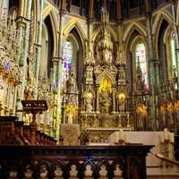 Inside the Big Cathedral in Ottawa, Ontario, Canada