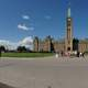 Panorama of Canadian Parliament in Ottawa, Ontario, Canada