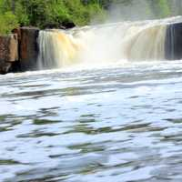 Closer view of middle falls at Pigeon River Provincial Park, Ontario, Canada