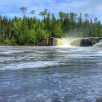 Middle Falls at Pigeon River Provincial Park, Ontario, Canada