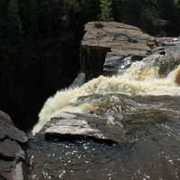 Tumbling over the cliff at Pigeon River Provincial Park, Ontario, Canada
