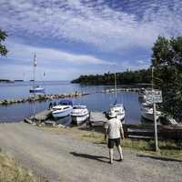 People at the Marina at Silver Isle, Sleeping Giant Provincial Park, Ontario