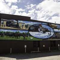 Big Mural on Wall in Thunder Bay, Ontario, Canada