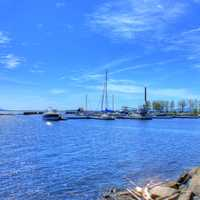 Marina and Harbor in Thunder Bay, Ontario, Canada