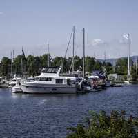 Rows of Boats in Marina in Thunder Day, Ontario