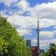 CN Tower in the Distance in Toronto, Ontario, Canada