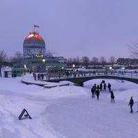 Ice Skating Rink in the winter in Montreal, Quebec, Canada